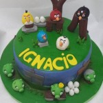 Torta Angry Birds Green