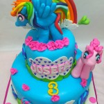 Torta my little pony Rainbow Dash y pinky Pie