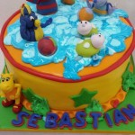 Torta Backyardigans Pool Party