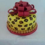 Torta Regalo Animal Print cheetah