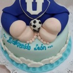 Torta Babyshower Patitas Universidad de Chile