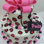 Torta Regalo Animal Cheetah Pink