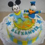 Torta Mickey Mouse y Pato Donald Bebés