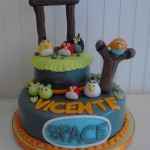 Torta Angry Birds Space (40 personas)