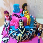 Torta Monster High y sus amigas